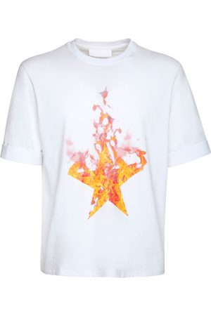 Neil Barrett Men T-shirts - Fired Star Print Cotton Jersey T-shirt