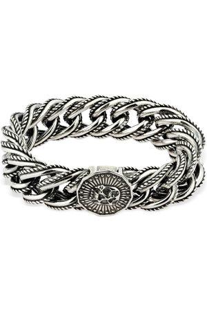 EMANUELE BICOCCHI Men Bracelets - Wrap Chain Bracelet W/ Skull