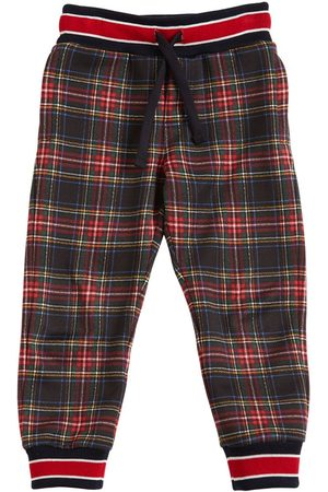Dolce & Gabbana Check Cotton Sweatpants