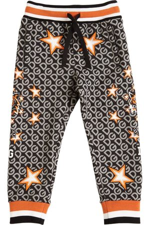 Dolce & Gabbana Boys Sweatpants - Star Print Cotton Sweatpants