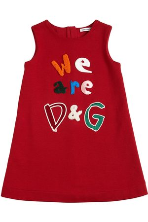 Dolce & Gabbana Girls Casual Dresses - Cotton Jersey Dress W/ Patches