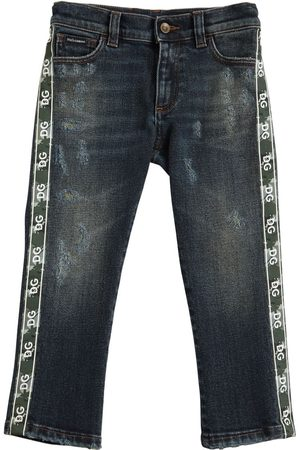 Dolce & Gabbana Boys Stretch - Stretch Cotton Jeans W/ Logo Bands