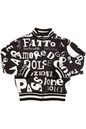 Dolce & Gabbana Zip-up Printed Cotton Sweatshirt