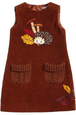 Dolce & Gabbana Girls Dresses - Hedgehog Corduroy Sleeveless Dress