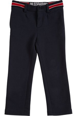 Dolce & Gabbana Cotton Pants W/ Logo Detail
