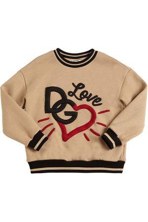 Dolce & Gabbana Embroidered Blend Cotton Sweatshirt