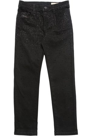 Diesel Embellished Stretch Cotton Denim Jeans