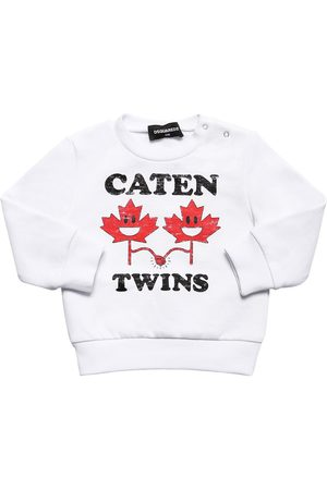 Dsquared2 Twins Printed Cotton Sweatshirt