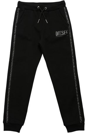 Diesel Cotton Sweatpants W/ Chain
