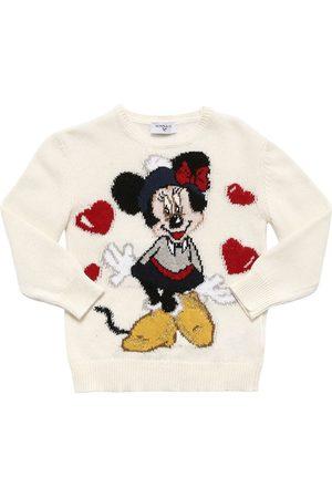 MONNALISA Wool Blend Intarsia Knit Sweater