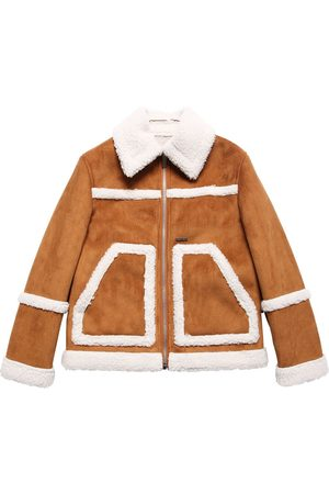 Dsquared2 Faux Shearling & Faux Suede Jacket