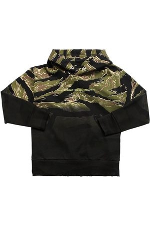 Diesel Printed Cotton Sweatshirt Hoodie