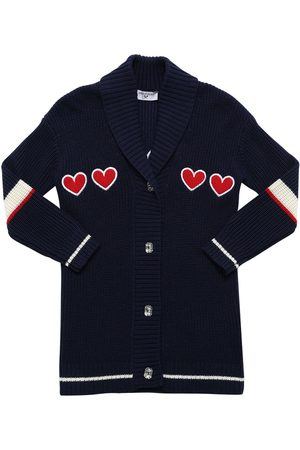 MONNALISA Cardigan W/ Heart Patches