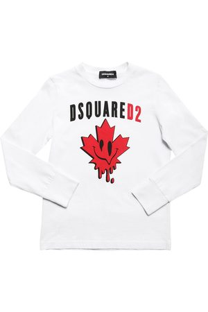 Dsquared2 Leaf Printed Cotton Jersey T-shirt