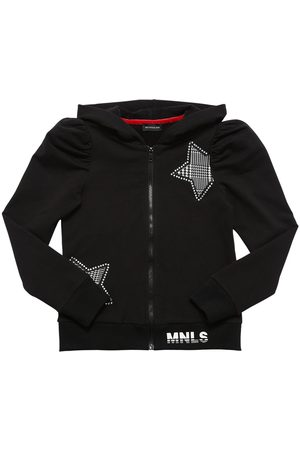 MONNALISA Zip-up Cotton Sweatshirt Hoodie
