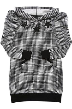 MONNALISA Hooded Cotton Sweat Dress