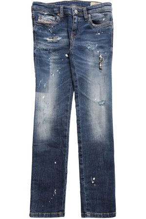 Diesel Distressed Stretch Cotton Jeans