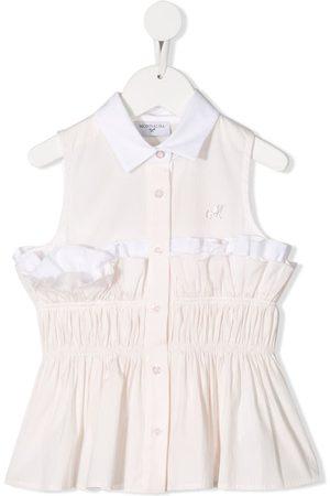 MONNALISA Girls Blouses - Ruffle striped blouse