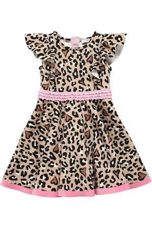 MONNALISA Leopard Print Neoprene Dress