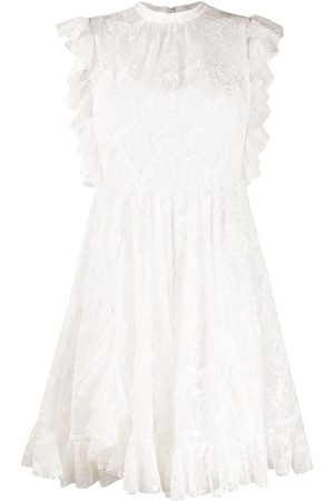Msgm Sleeveless floral lace dress