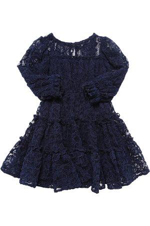 MONNALISA Macramè Lace Party Dress