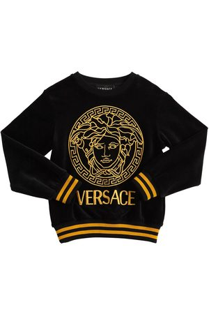 VERSACE Girls Sweatshirts - Embroidered Chenille Sweatshirt