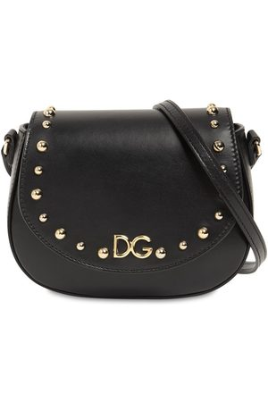 Dolce & Gabbana Studded Leather Shoulder Bag