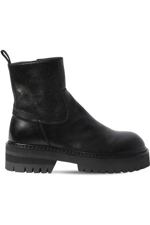 ANN DEMEULEMEESTER 50mm Leather Ankle Boots