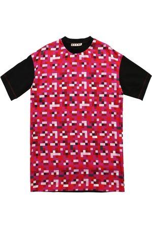 Marni Pixel Print Viscose Dress