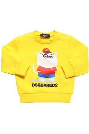 Dsquared2 Cat Printed Cotton Sweatshirt