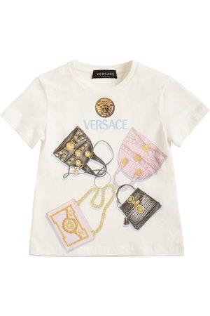 VERSACE Print Cotton Jersey T-shirt