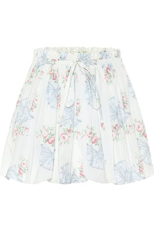 LOVESHACKFANCY Cheyon floral cotton miniskirt