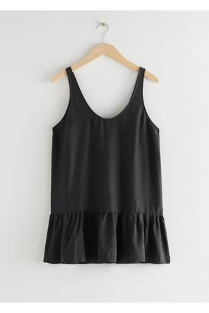 & OTHER STORIES Dropped Waist Silk Top