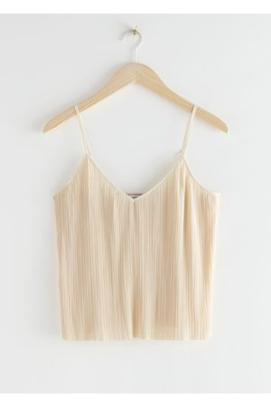 & OTHER STORIES Women Crop Tops - Pleated Crop Top