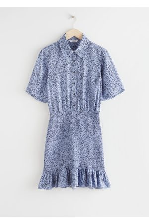 & OTHER STORIES Women Casual Dresses - Smocked Mini Shirt Dress