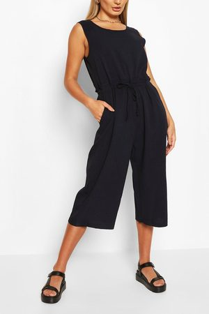 Boohoo Womens Slouchy Drawstring Waist Culotte Jumpsuit - - S