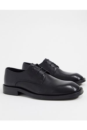ASOS Shoes - Lace up square toe shoes in leather