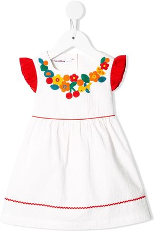 Familiar Embroidered ruffled dress