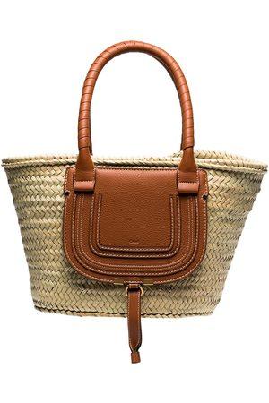 Chloé Medium Marcie basket bag - Neutrals
