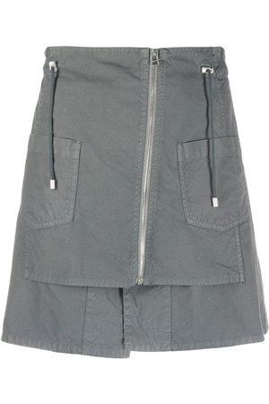Mr & Mrs Italy Zipped drawstring mini skirt - Grey