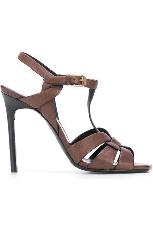 Saint Laurent Tribute 105mm sandals - Neutrals