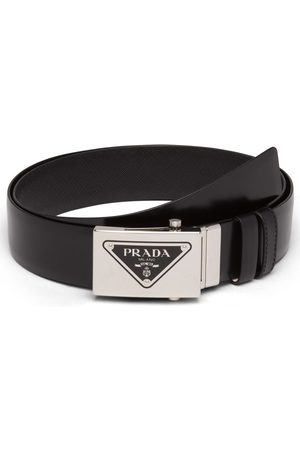 Prada Reversible logo-buckle leather belt