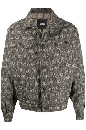 KTZ Cube print denim jacket - Neutrals