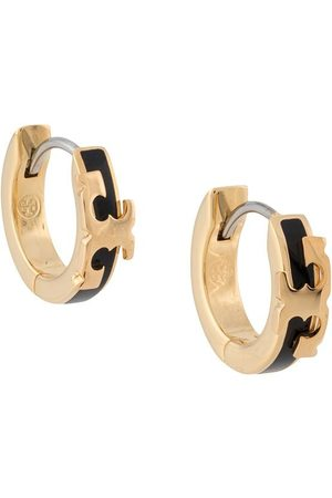Tory Burch T-plaque hoop earrings