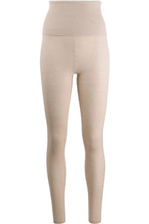 ERES Ribbed knit cashmere leggings