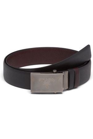 Prada Reversible logo-buckle Saffiano leather belt
