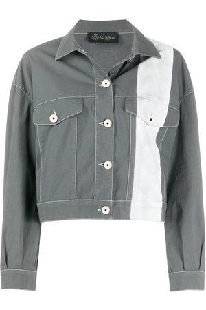 Mr & Mrs Italy Bleached striped denim jacket - Grey