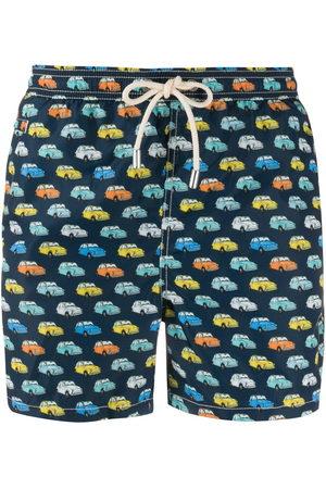 MC2 SAINT BARTH Vintage car print swim shorts