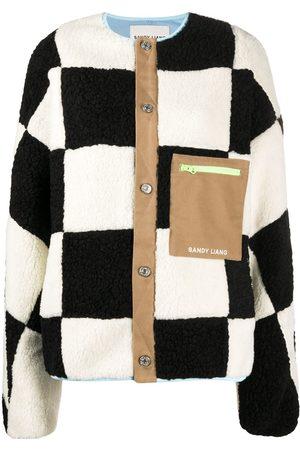 SANDY LIANG Oversized check cardigan