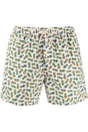MC2 SAINT BARTH Men Swim Shorts - Pineapple print swim shorts